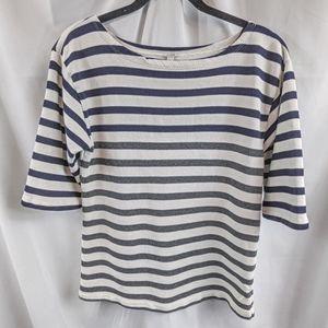 J Crew Boat Neck Terry Cloth Sweatshirt Sz Medium